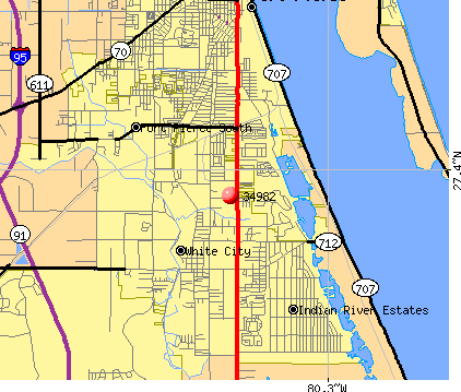 Indian River Estates, FL (34982) map