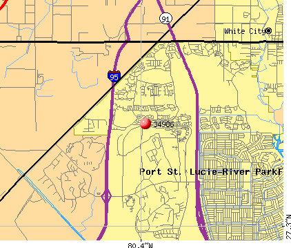 Port St. Lucie, FL (34986) map
