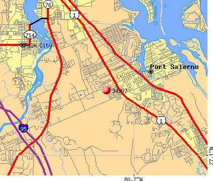 Port Salerno, FL (34997) map