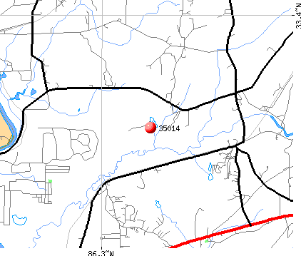 Childersburg, AL (35014) map