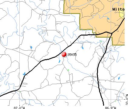 Wilton, AL (35035) map