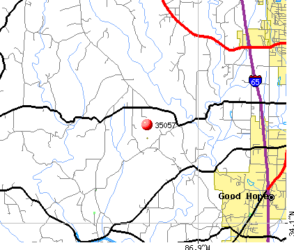 Good Hope, AL (35057) map