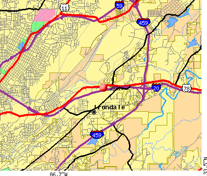 Irondale, AL (35210) map