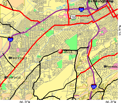 Birmingham, AL (35211) map