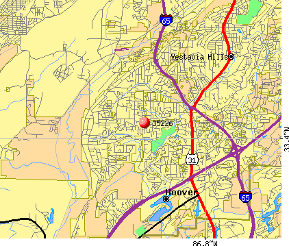 Hoover, AL (35226) map