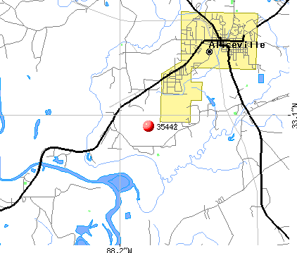 Aliceville, AL (35442) map