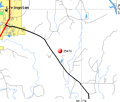 Livingston, AL (35470) map