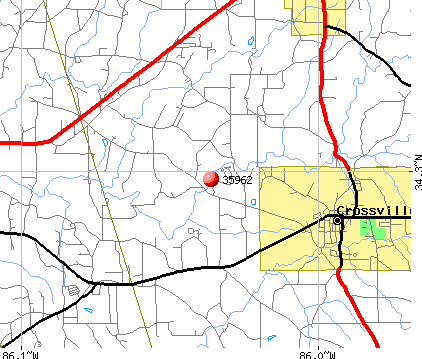 Crossville, AL (35962) map