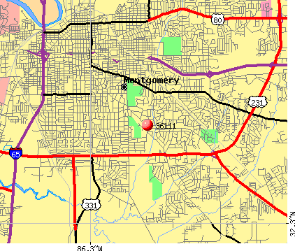 Montgomery, AL (36111) map