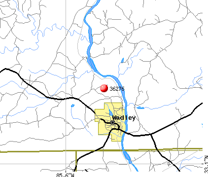 Wadley, AL (36276) map