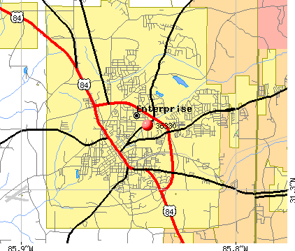 Enterprise, AL (36330) map