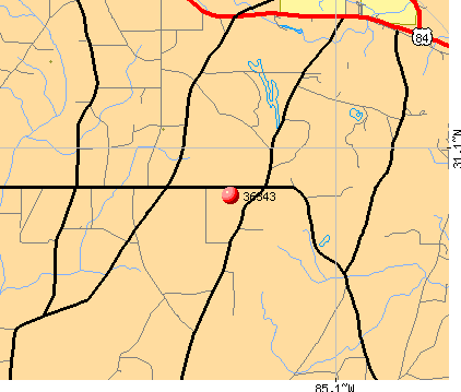 Gordon, AL (36343) map