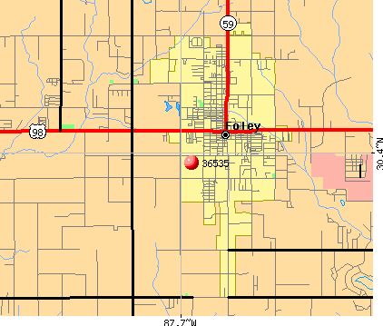 Foley, AL (36535) map