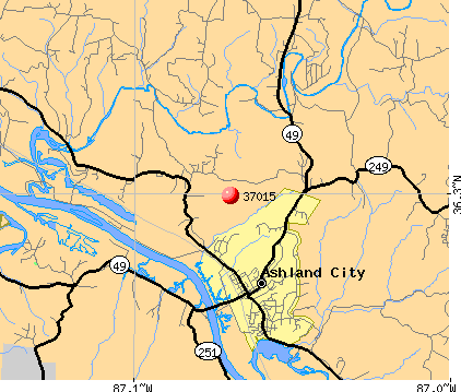 Ashland City, TN (37015) map