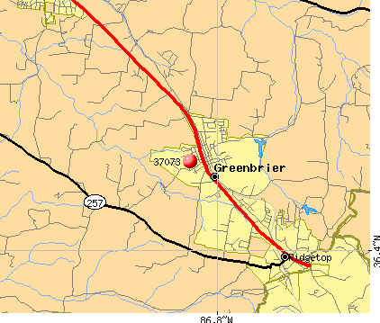 Greenbrier, TN (37073) map