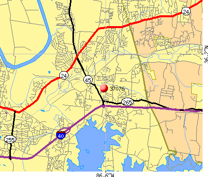 Nashville-Davidson, TN (37076) map