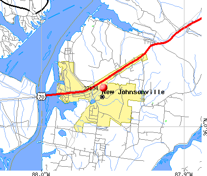 New Johnsonville, TN (37134) map