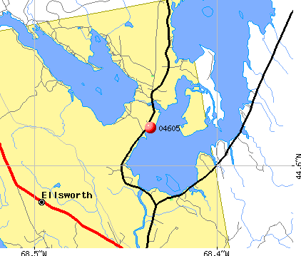 Ellsworth, ME (04605) map