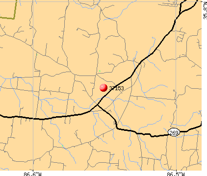 Murfreesboro, TN (37153) map