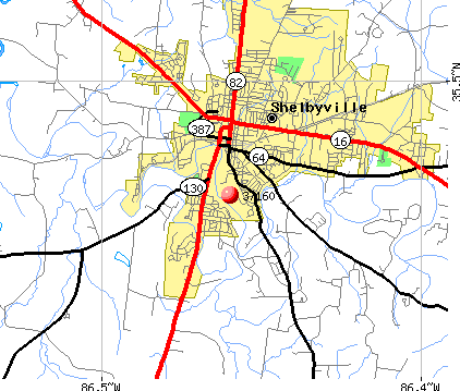 Shelbyville, TN (37160) map