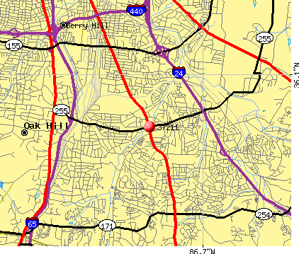 Nashville-Davidson, TN (37211) map