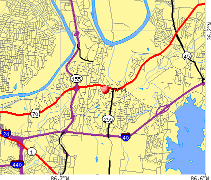 Nashville-Davidson, TN (37214) map