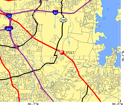 Nashville-Davidson, TN (37217) map