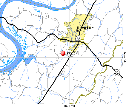 Decatur, TN (37322) map