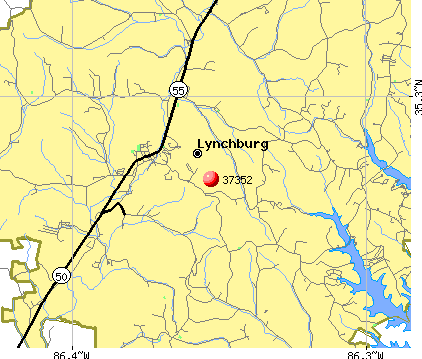 Lynchburg, TN (37352) map
