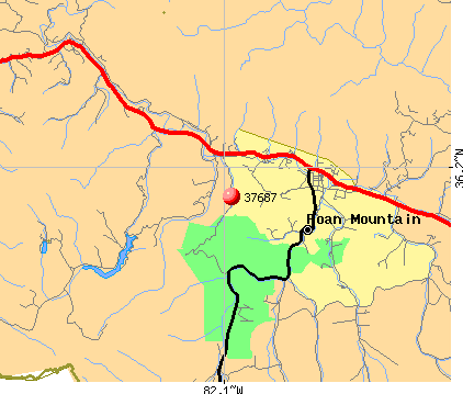 Roan Mountain, TN (37687) map