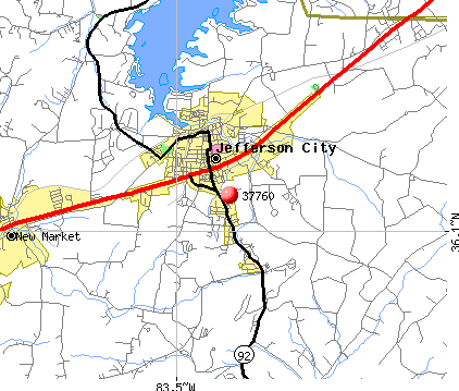 Jefferson City, TN (37760) map
