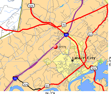 Lenoir City, TN (37771) map