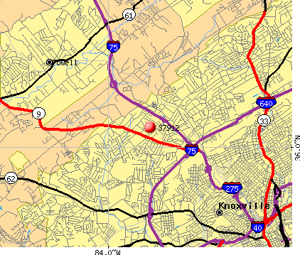 Knoxville, TN (37912) map