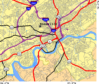 Knoxville, TN (37916) map