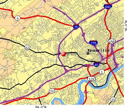 Knoxville, TN (37921) map