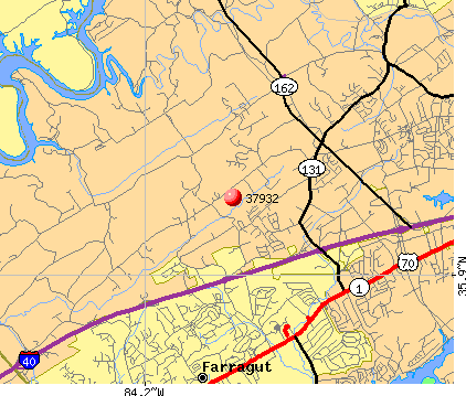 Farragut, TN (37932) map