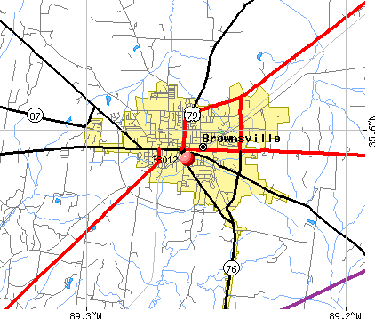 Brownsville, TN (38012) map