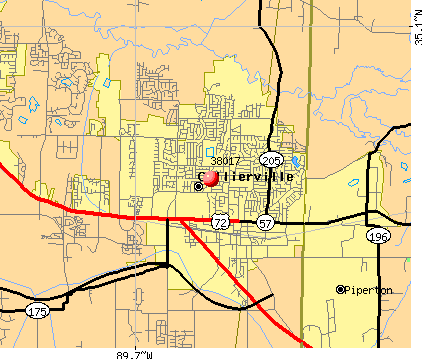 Collierville, TN (38017) map