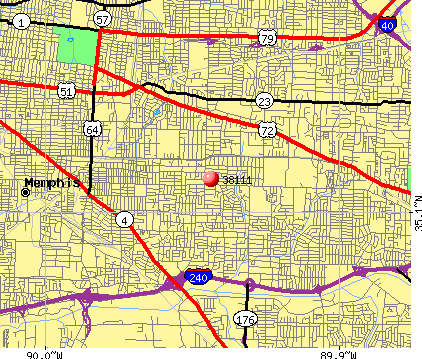 Memphis, TN (38111) map