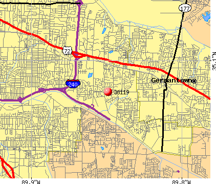 Memphis, TN (38119) map