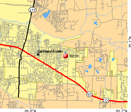 Germantown, TN (38139) map