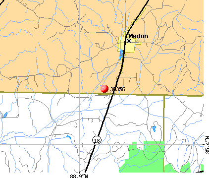 Medon, TN (38356) map