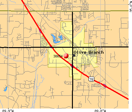 Olive Branch, MS (38654) map