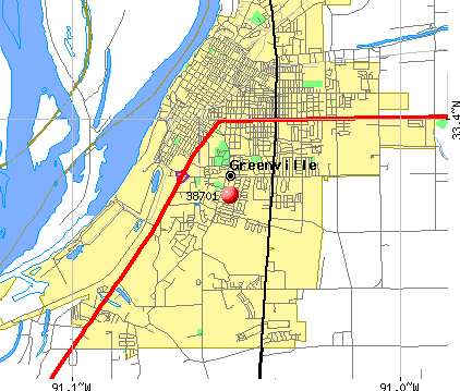 Greenville, MS (38701) map