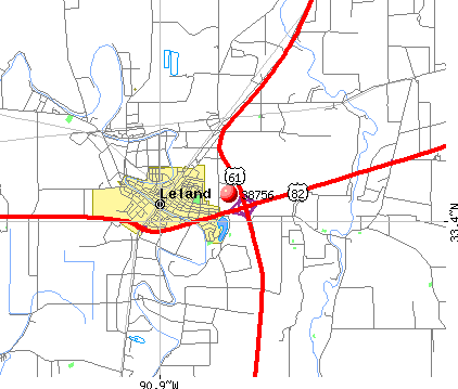 Leland, MS (38756) map