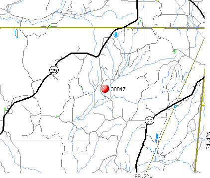 Golden, MS (38847) map