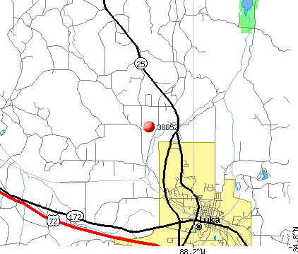 Iuka, MS (38852) map