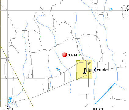Big Creek, MS (38914) map
