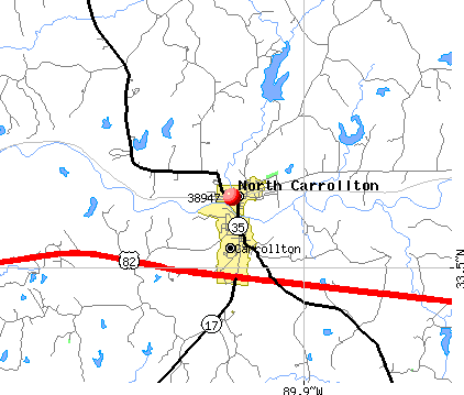 North Carrollton, MS (38947) map