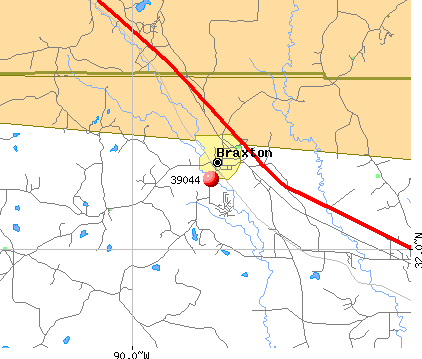 Braxton, MS (39044) map
